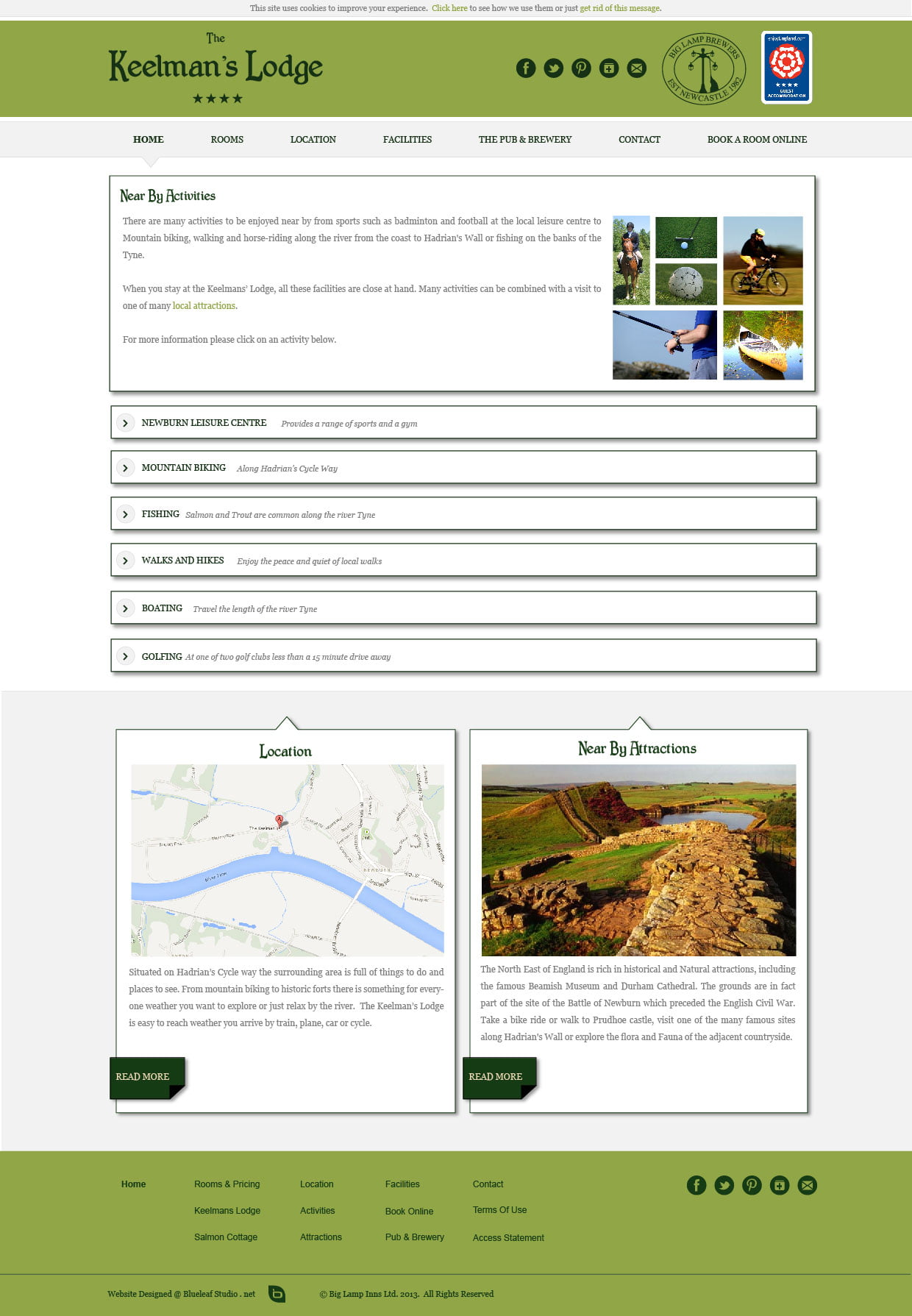 Pub website design keelman big lamp brewery for Brewery design software