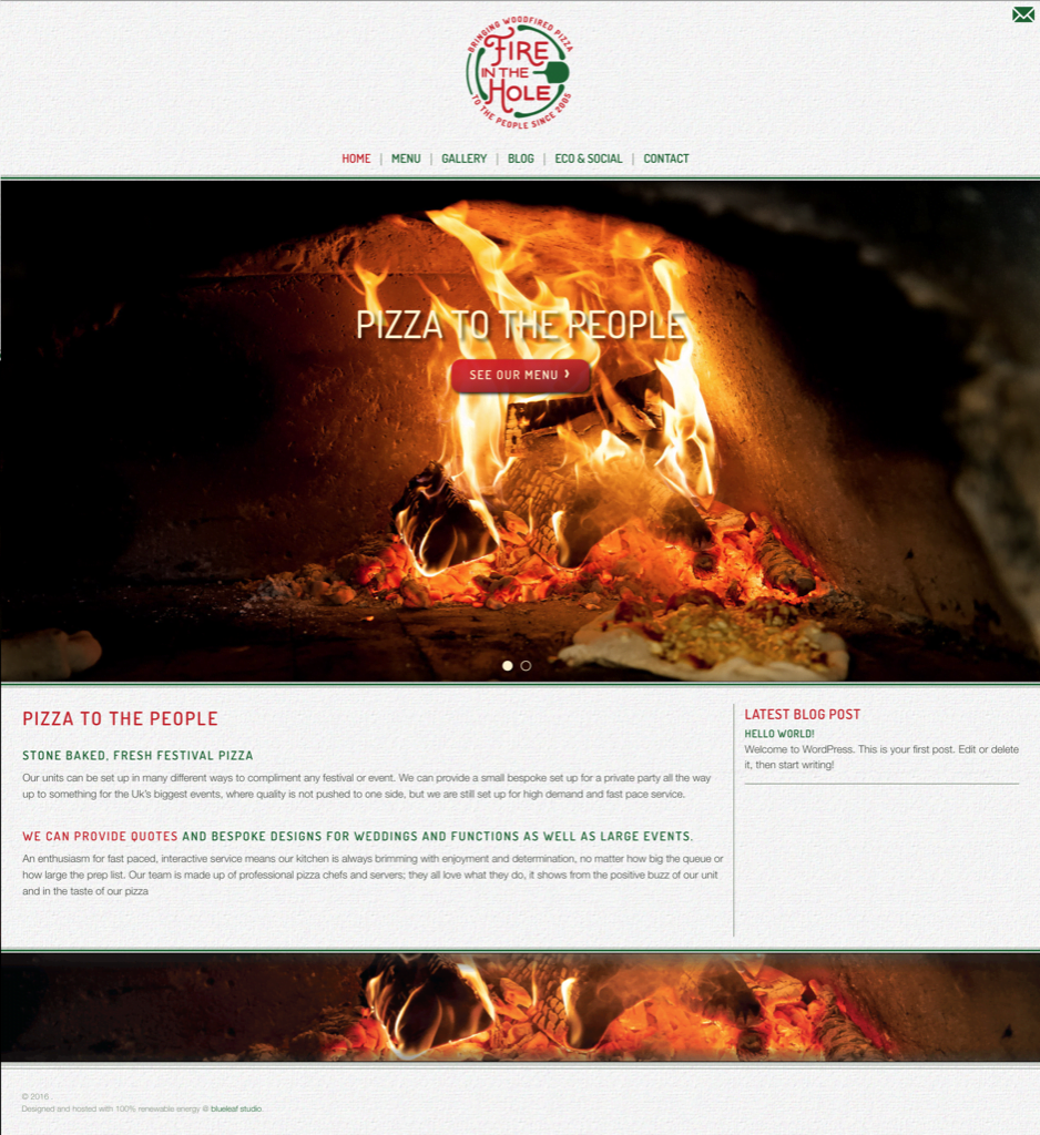Fire In The Hole Pizza Catering